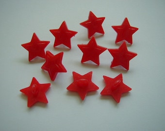 10 Red Star buttons