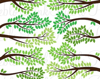 Branch Silhouettes SVGs 2, Tree Limbs and Branches Cutting Templates - Commercial and Personal Use