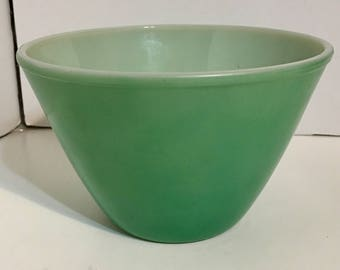 Vintage Green Fire King Oven Ware Mixing Bowl