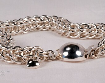 Slinky Full Persian 6-in-1 Argentium Silver Chainmaille Bracelet