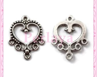 Set of 30 prints REF423 silver hearts