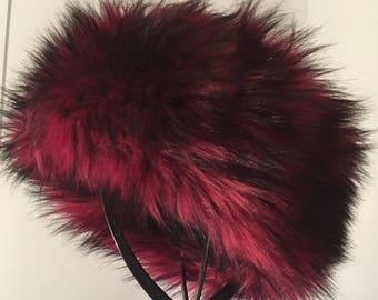 Garnet Luxe Shag Faux Fur Headband