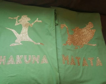 Timon and Pumba Hakuna Matata Couples Shirts