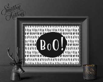 BOO Halloween Printable Halloween Art, Halloween Printable Decor, Boo Halloween Art, Boo Halloween Printable Sign, Halloween Decor, PATTERN