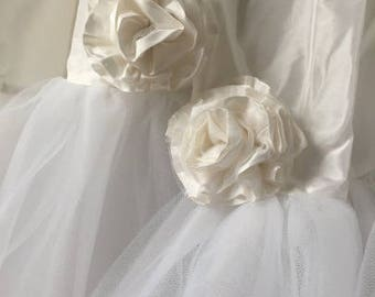 Hand made Silk  Tulle Rosettes