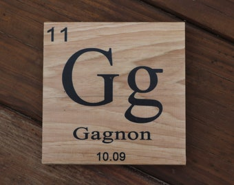 Periodic table etsy personalized family name sign periodic table home decor rustic decor wood sign gift for her gift urtaz Image collections