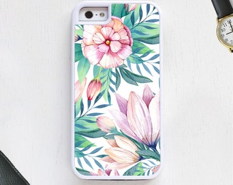 Cute designer floral vintage garden design in boho white CellPhoneCase protective bumper cover iPhone6 iPhone7 Android s5 s6 s7 note4note112