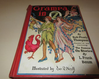 GRAMPA IN OZ Book By Ruth Plumly Thompson