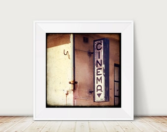 Celluloid City - Fine Art Print Cinema Sign vintage TTV photo photography rustic House wall
