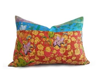 Bohemian Pillows, Orange Blue Pillows, Colorblock Pillow Covers, Orange Turquoise Pillows, Country Pillow, Boho  Pillows, 14x20, 18x18