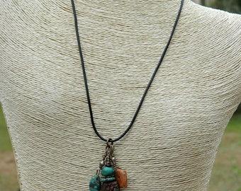 Long Boho Pendant Necklace