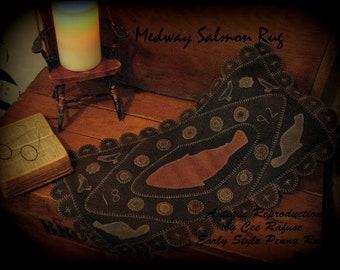 Medway Salmon Rug printed pattern
