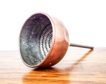 Vintage Scientific English Brass T O Blake Hatton Garden Sieve Filter, Unique Gift Ideas for Scientist, Medical Present