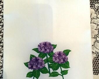 Kitchen Towel- Hydrangea