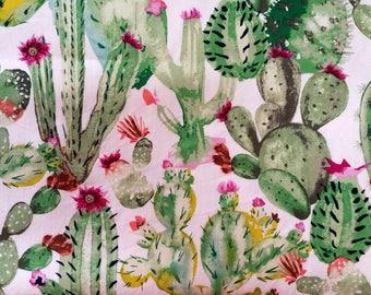 Stitchidori - Flowering Cactus - Fauxdori, diary, notebook cover, journal cover