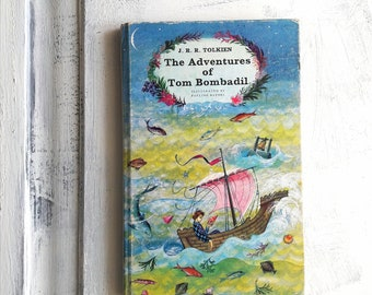 Notebook with original 1962 cover from  'The adventures of Tom Bombadil', handmade journal, 100 blank pages, recycled paper, 22.5x14.5 cm