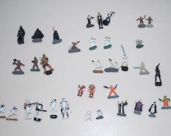 Choose One: Mini Figures for Star Wars Micro Machines Action Fleet Darth Vader Chewbacca Storm Trooper Han Solo Luke Skywalker Princess Leia