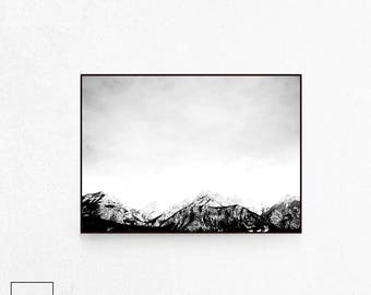 Mountain Landscape, Mountain Poster Art, Mountain Art Print, Mountain Print, Nordic Mountain, Scandinavian Poster, Scandinavia Print, Scandi