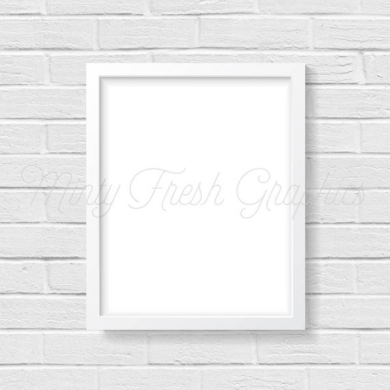 Marco maqueta - marco blanco - ladrillo blanco pared - 16 x 20 ...