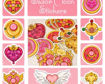 Sailor Moon Compact and Brooch Stickers