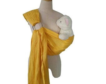 """Ring Sling Baby Wrap 100 % linen / Linen Ring Sling Baby Carrier 80"""" long for size s-xl"""