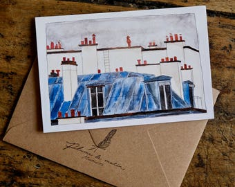 "Card ""Rooftops of Paris"""