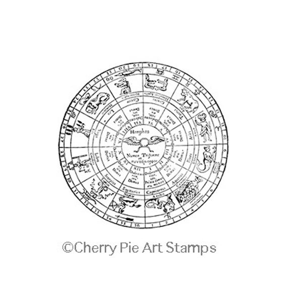 Doyens Chart Esoteric Astrology Cling Rubber Stamp By