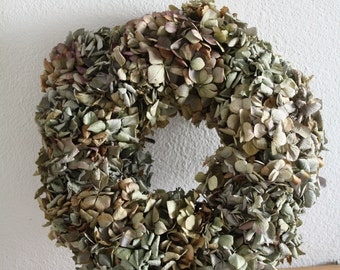 Dried Hydrangea wreath , spring wreath , shabby chik, wedding wreath, home decoration , floral wreath  handmade 30cm  11,81 inch