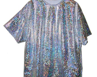 Handmade Holographic Maxi Shirt - Dress One Size  S/M/L  Various Colors