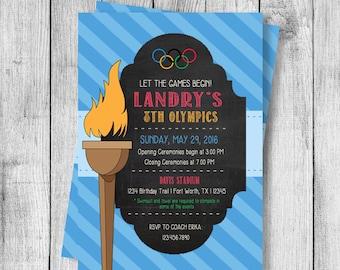 Olympics Party Birthday Invitation - 5x7