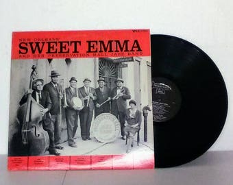 """Sweet Emma And Her Preservation Hall Jazz Band New Orleans (1964) 12"""" 33 RPM Vinyl LP Jazz, Dixieland"""