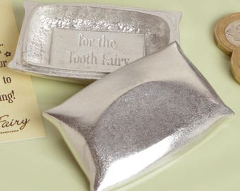 Tooth Fairy Box Pewter Pillow