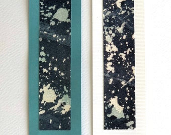 "Book marks 2 pcs ""Night sky"" Turquoise/white"