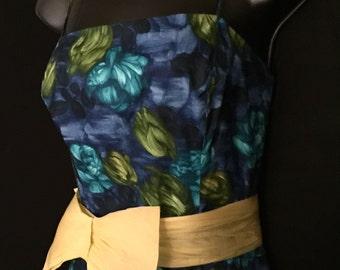 50's Tropicanna Wiggle Dress With Peek a Boo Jacket   VG24