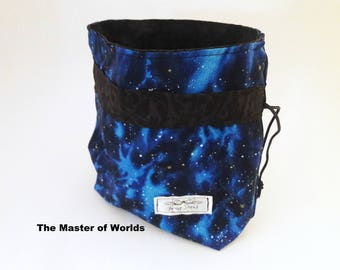 """Critical Role Themed Dice, Jewelry, Makeup Bag Sack Pouch Large with Zipper """"Jail"""" Pocket Gift DND Pathfinder RPG"""