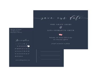 Save the Date Card, Calendar Save the Day, Printable Rustic save the date printable, Save the date postcard, save the date calendar