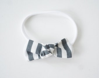 Stripe Mini Amelia Headband or Clip
