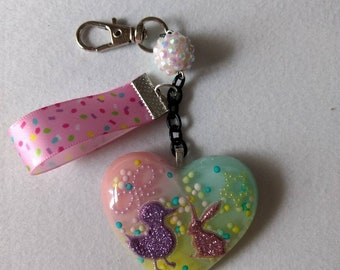 Bunny & Chick Easter Keychain/Purse Charm
