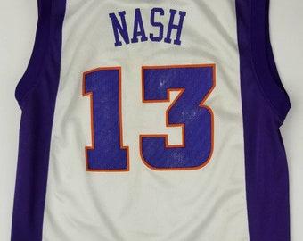 Phoenix Suns, Steve Nash White Home NBA Reebok Youth Jersey Size Medium (10-12). Vtg retro throwback Canada Arizona Wildcats Charles Barkley