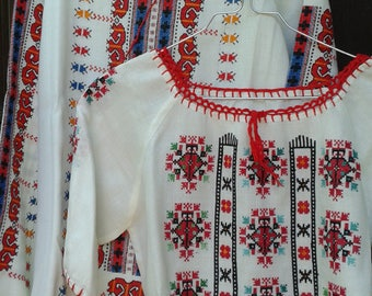 Woman shirt Mixed linen used