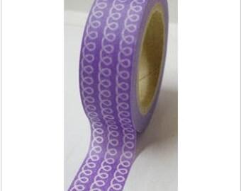 Washi tape (washi) - purple earrings