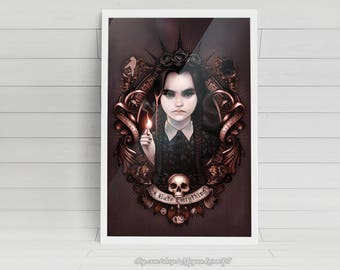 "I Hate Everything - Wednesday Addams of"" The Addams Family"" 11x17 signed poster print"