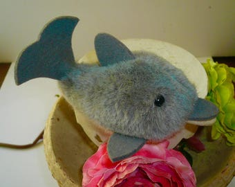 Steiff Dolphin Vintage  Collectible Plush Western Germany Free Shipping by VintageReinvented