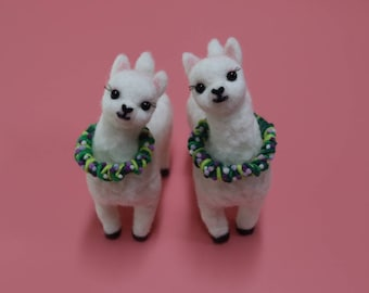 Needlefelted Cute Alpacas/ Alpaca Friends/ Needlefeted Doll/ Needlefeted Alpaca