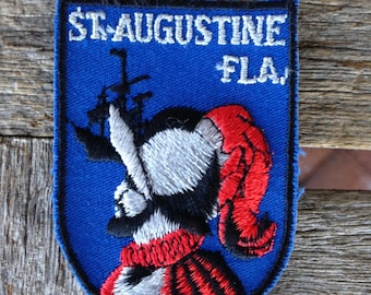 St. Augustine Florida Vintage Souvenir Travel Patch by Voyager