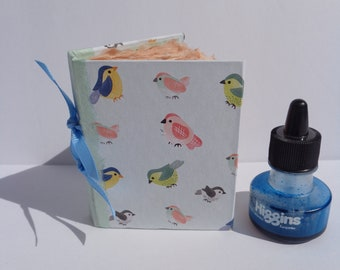 Adorable Mini Bird Book of Handmade Paper