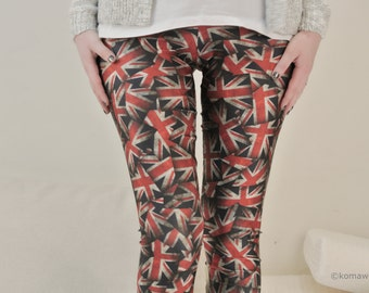 The UNION JACK LEGGINGS / Royal Union Flag/ Yoga Wear/ Skinny Tights/Meditation Women Stretch Leggings/New Zealand Australia Britain dfb54