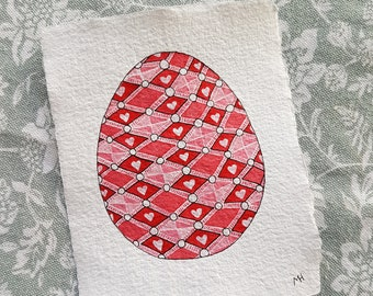 Fabergé Easter Egg - Tiny Original Watercolour Painting