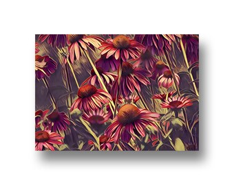 Cone Flowers, Art Print, Printable Art, Digital Art, Instant Download, Wall Decor
