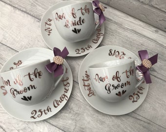 Nana/ nanny/ grandma / mother of the bride /groom gift cup and saucer personalised instead of prosecco champagne glasses for vintage wedding